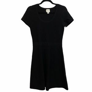 Reiss Black Short Sleeve Sweater Dress